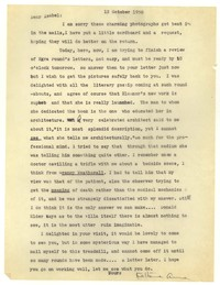 Letter from Katherine Anne Porter to Isabel Bayley, October 12, 1950