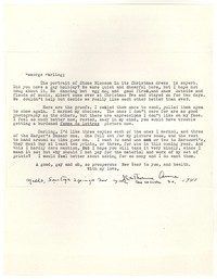 Letter from Katherine Anne Porter to George Platt Lynes, December 30, 1940