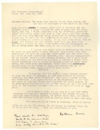 Letter from Katherine Anne Porter to Barbara Harrison Wescott, July 29, 1934