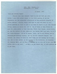 Letter from Katherine Anne Porter to William Humphrey and Dorothy Humphrey, April 13, 1967