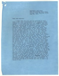 Letter from Katherine Anne Porter to John Malcolm Brinnin, June 26, 1976