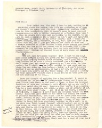 Letter from Katherine Anne Porter to William Humphrey, November 22, 1953