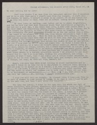Letter from Katherine Anne Porter to Albert Erskine, March 27, 1938