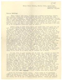 Letter from Katherine Anne Porter to Monroe Wheeler, November 24, 1936
