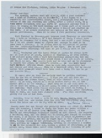 Letter from Katherine Anne Porter to Gay Porter Holloway, November 09, 1954