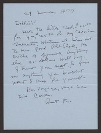 Letter from Katherine Anne Porter to Paul Porter Jr., November 29, 1973