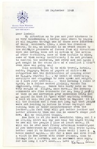 Letter from Katherine Anne Porter to Isabel Bayley, September 28, 1948