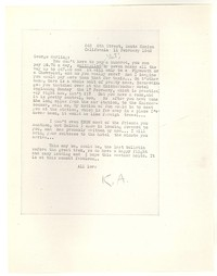 Letter from Katherine Anne Porter to George Platt Lynes, February 11, 1946