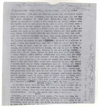 Letter from Katherine Anne Porter to Caroline Gordon, August 28, 1952