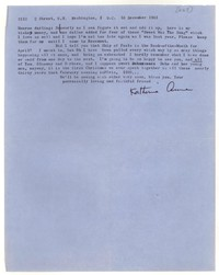 Letter from Katherine Anne Porter to Monroe Wheeler, December 18, 1961