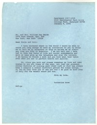 Letter from Katherine Anne Porter to William Jay Smith and Sonja Smith, January 09, 1976