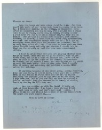 Letter from Katherine Anne Porter to Eleanor Clark, April 19, 1951