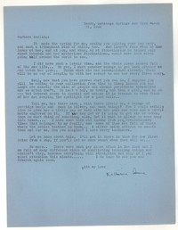Letter from Katherine Anne Porter to Barbara Harrison Wescott, March 31, 1942