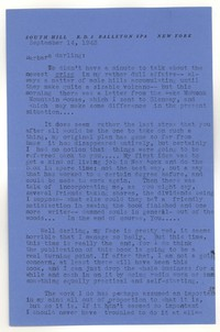 Letter from Katherine Anne Porter to Barbara Harrison Wescott, September 14, 1943