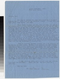 Letter from Katherine Anne Porter to Gay Porter Holloway, circa December 25, 1945