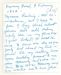 Letter from Katherine Anne Porter to Monroe Wheeler, February 09, 1956