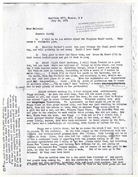 Letter from Katherine Anne Porter to Malcolm Cowley, July 22, 1931