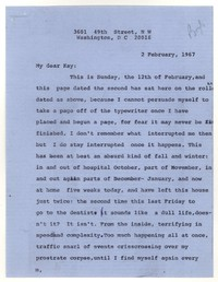 Letter from Katherine Anne Porter to Kay Boyle, February 02, 1967