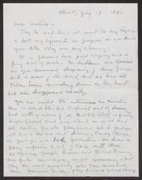 Letter from Katherine Anne Porter to Albert Erskine, July 19, 1940