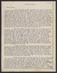 Letter from Katherine Anne Porter to Paul Porter Jr., October 04, 1944