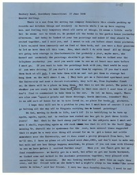 Letter from Katherine Anne Porter to Monroe Wheeler, June 17, 1958