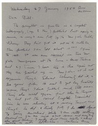 Letter from Katherine Anne Porter to William Humphrey, January 27, 1954