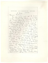 Letter from Katherine Anne Porter to George Platt Lynes, May 09, 1946