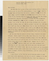 Letter from Katherine Anne Porter to Gay Porter Holloway, January 10, 1931