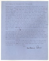 Letter from Katherine Anne Porter to Barbara Harrison Wescott, March 16, 1962