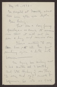 Letter from Katherine Anne Porter to Eugene Pressly, May 01, 1932
