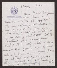 Letter from Katherine Anne Porter to Paul Porter Jr., May 01, 1946