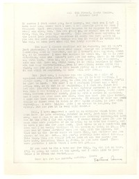 Letter from Katherine Anne Porter to George Platt Lynes, October 03, 1945