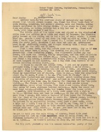 Letter from Katherine Anne Porter to Josephine Herbst, October 31, 1936