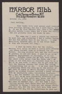 Letter from Katherine Anne Porter to Paul Porter Jr., October 15, 1943
