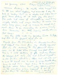 Letter from Katherine Anne Porter to Monroe Wheeler, January 26, 1955