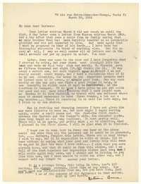 Letter from Katherine Anne Porter to Barbara Harrison Wescott, March 30, 1935