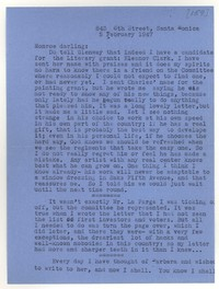 Letter from Katherine Anne Porter to Monroe Wheeler, February 05, 1947