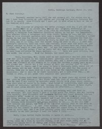 Letter from Katherine Anne Porter to Albert Erskine, March 15, 1941