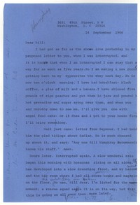 Letter from Katherine Anne Porter to William Humphrey, September 14, 1966