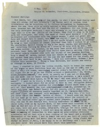 Letter from Katherine Anne Porter to Eleanor Clark, May 08, 1952