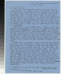 Letter from Katherine Anne Porter to Gay Porter Holloway, July 01, 1947