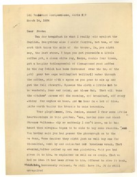 Letter from Katherine Anne Porter to Ford Maddox Ford and Janice Biala, March 14, 1934