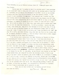Letter from Katherine Anne Porter to James Stern, August 26, 1963