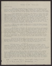 Letter from Katherine Anne Porter to Albert Erskine, February 07, 1938
