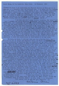 Letter from Katherine Anne Porter to Glenway Wescott, February 24, 1963