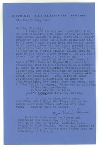 Letter from Katherine Anne Porter to Glenway Wescott, December 21, 1942