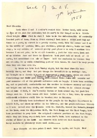 Letter from Katherine Anne Porter to Cleanth Brooks, September 07, 1958