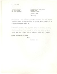 Letter from Katherine Anne Porter to Monroe Wheeler, July 15, 1956