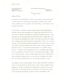 Letter from Katherine Anne Porter to Glenway Wescott, August 04, 1955