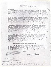 Letter from Katherine Anne Porter to Malcolm Cowley, February 18, 1931